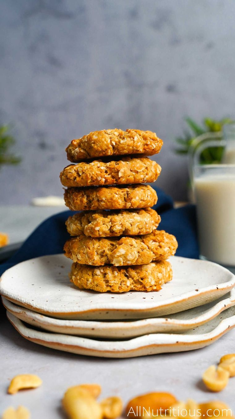 stack of protein cookies