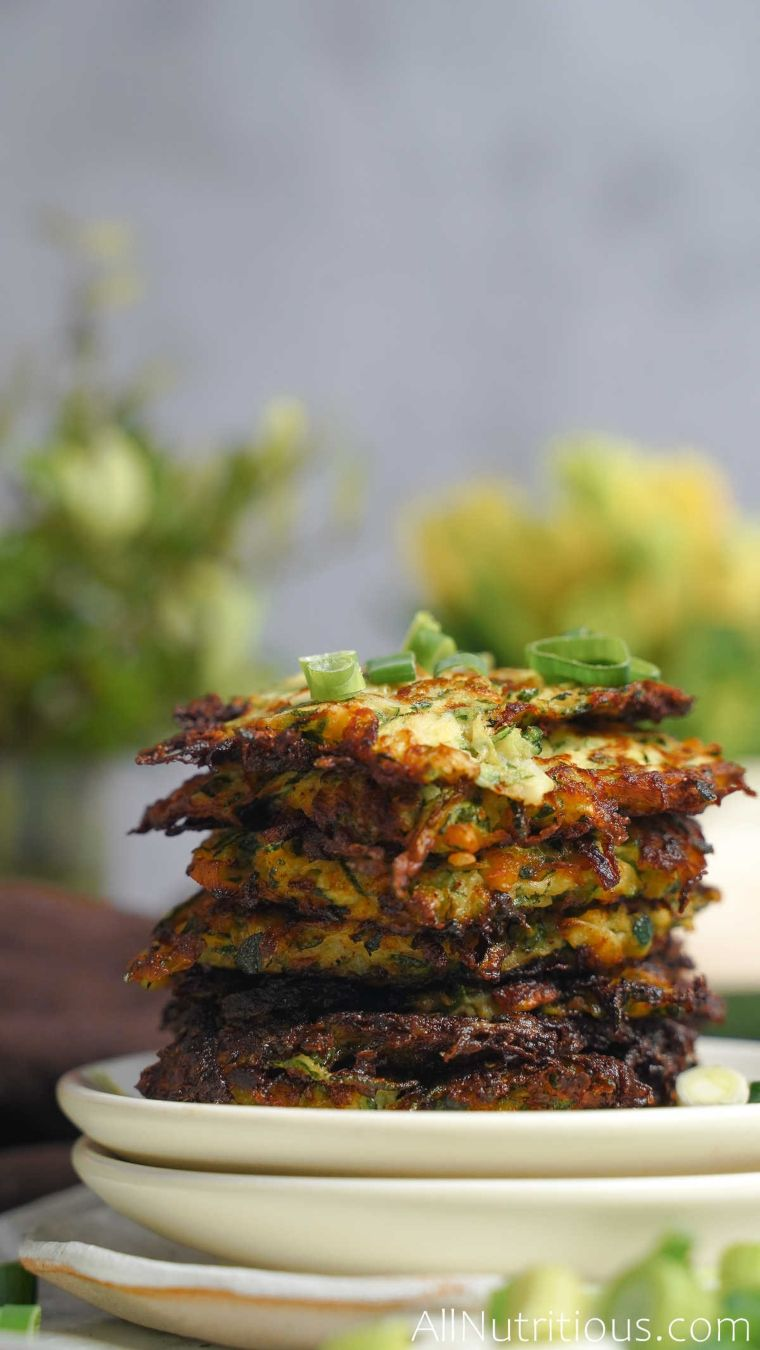stack of fried fritters