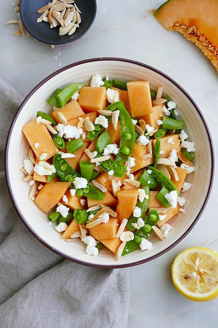 Melon & Snap Pea Salad
