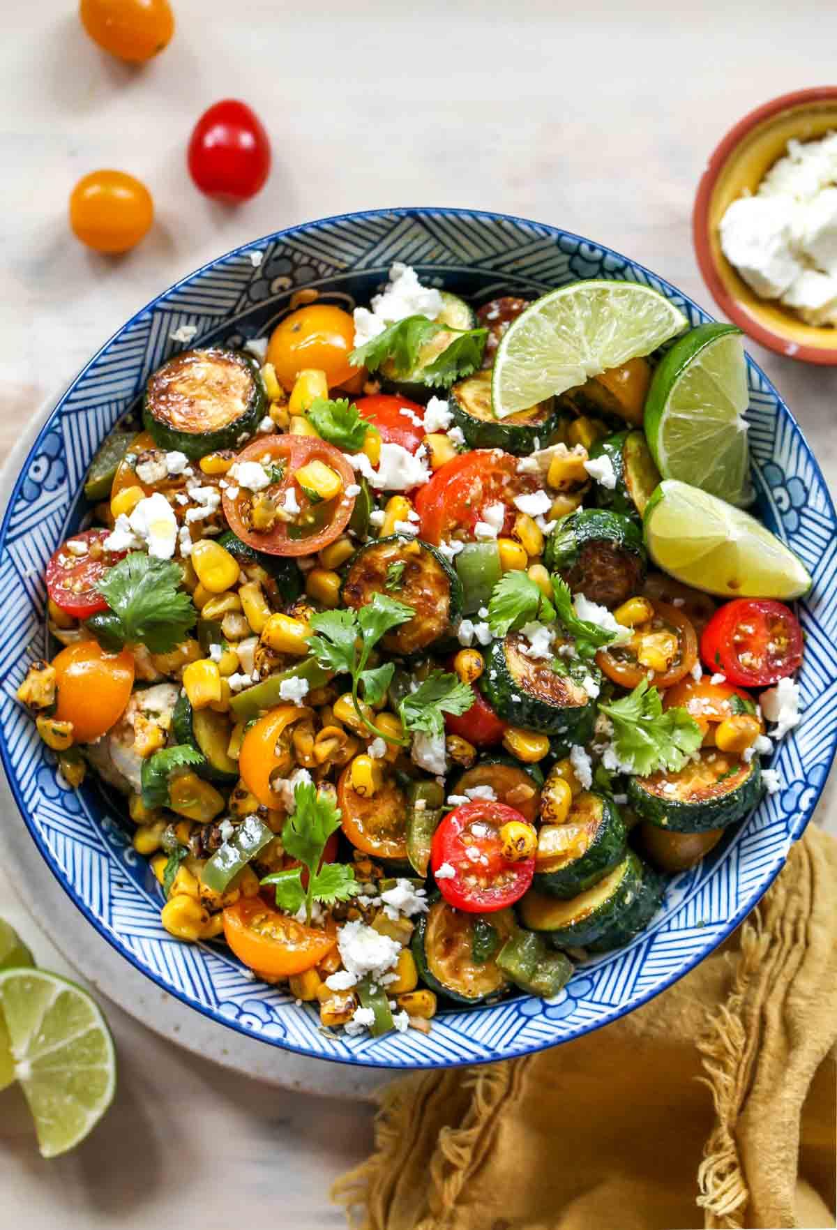 Summer Squash & Corn Fiesta Salad