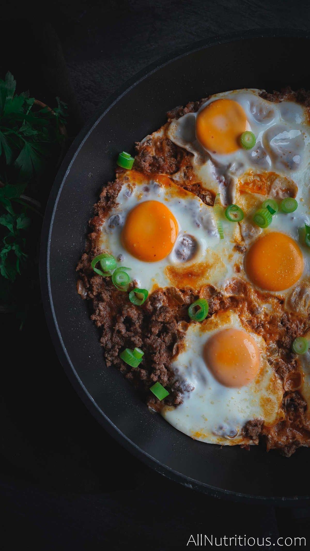 baked egg skillet