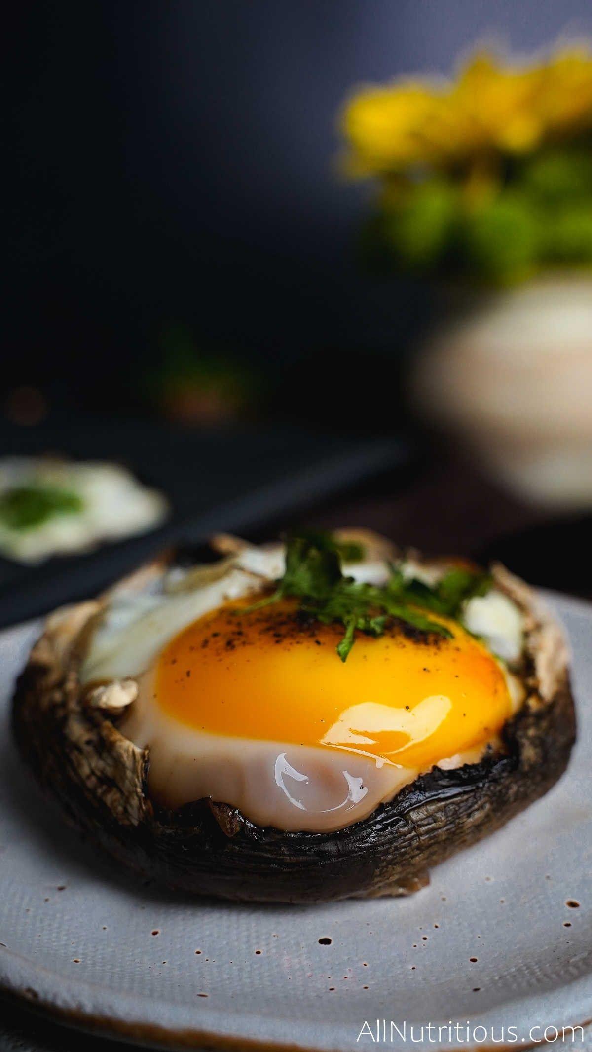 mushroom egg bake