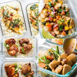 meal prep rice and chicken