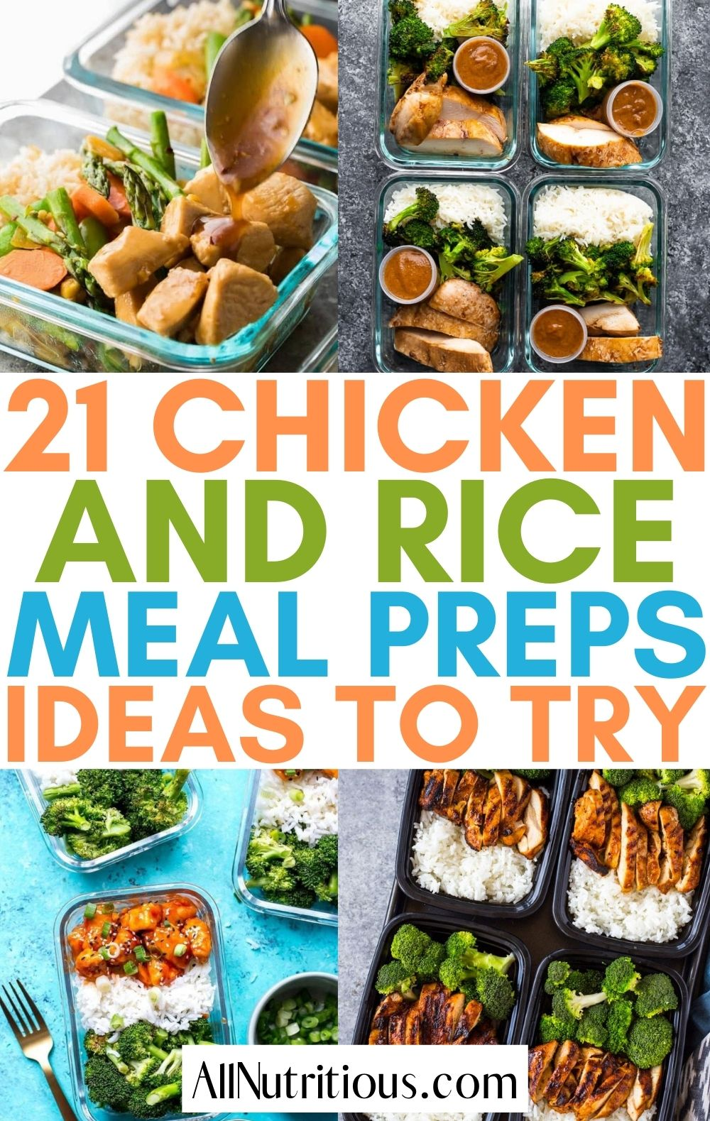 chicken and rice meal preps
