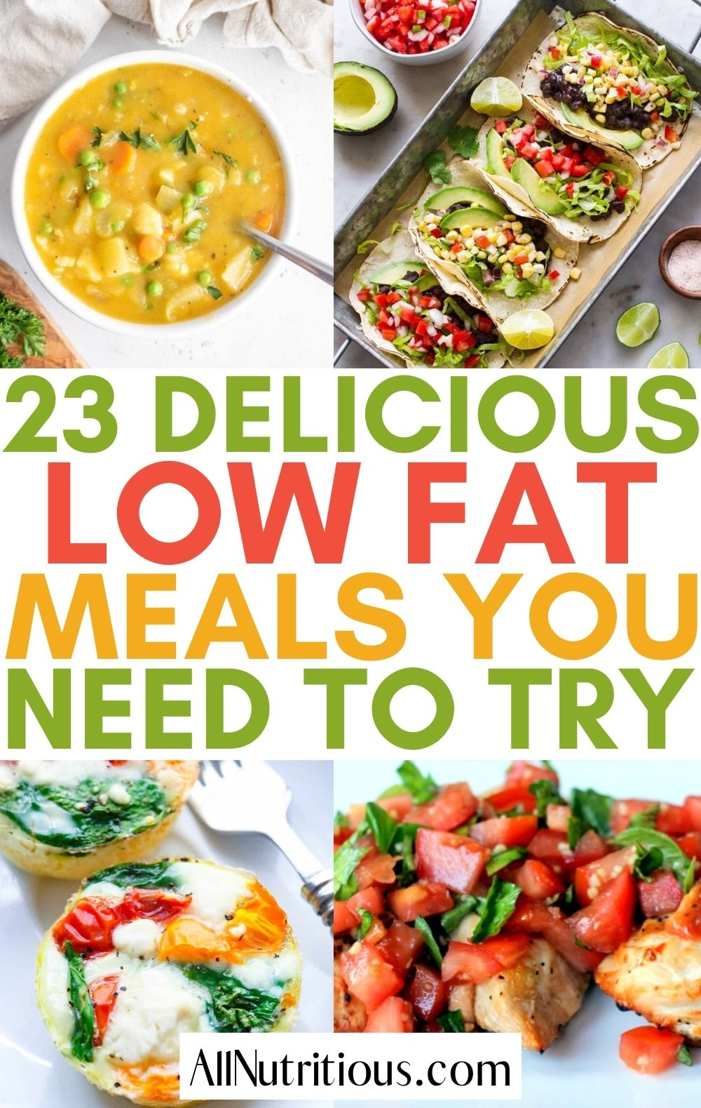 low fat meals