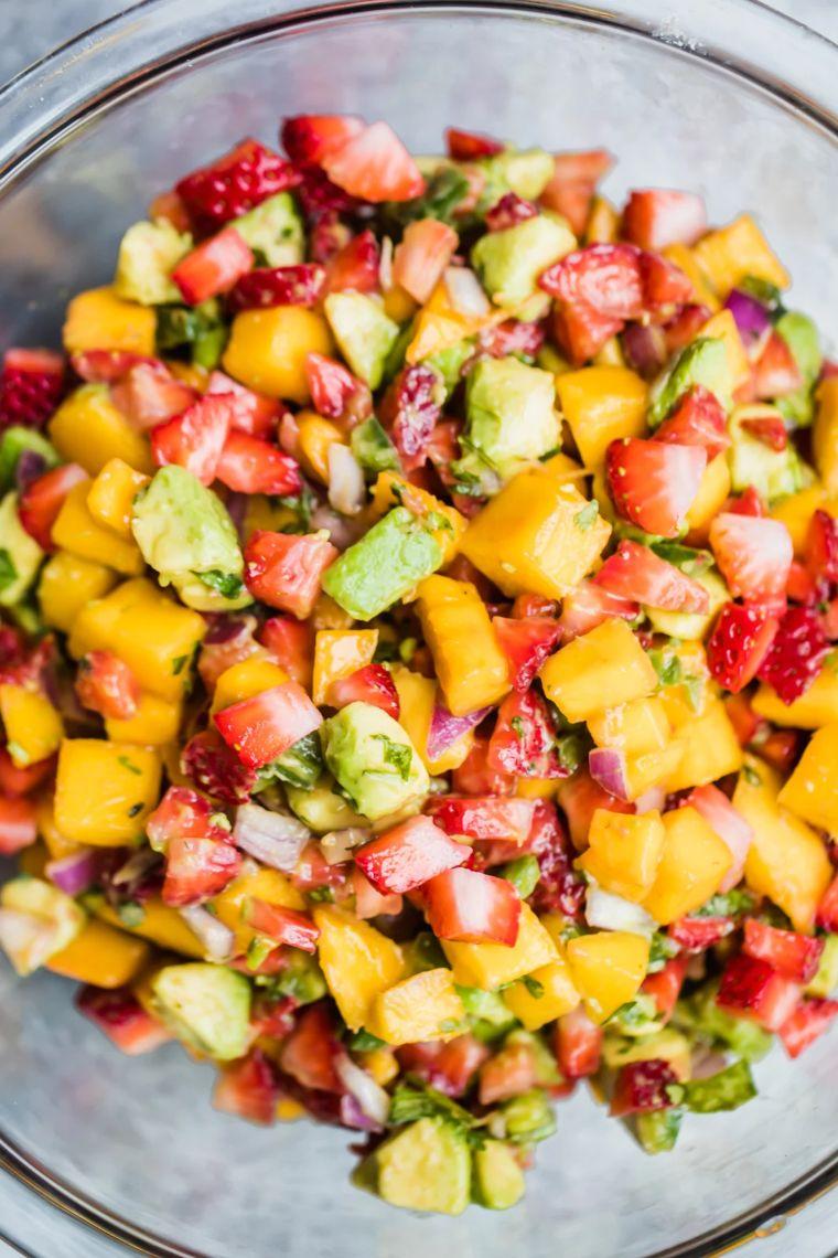 Avocado Strawberry Mango Salsa
