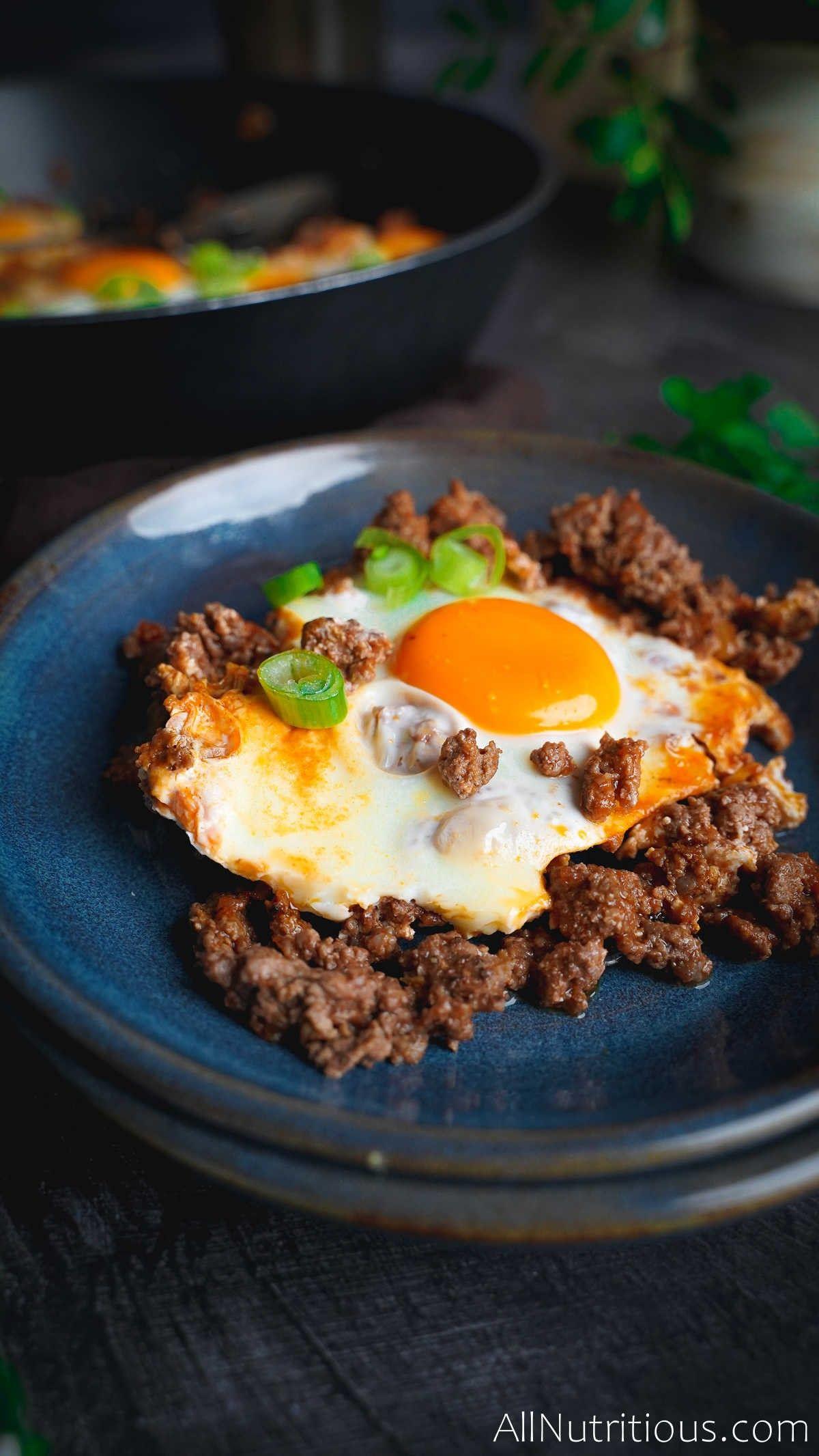 egg breakfast on plate