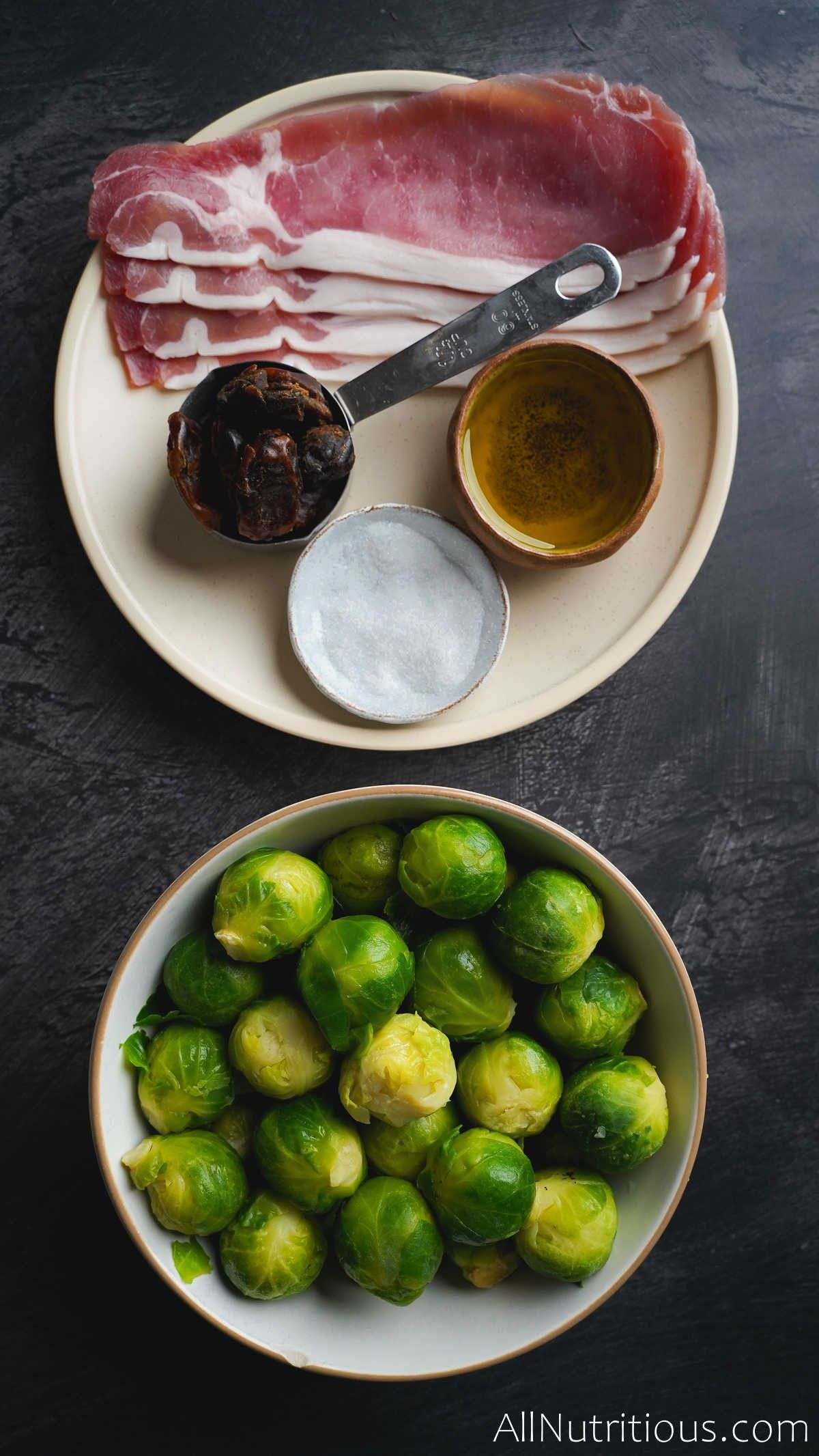 ingredients for brussels sprouts dish