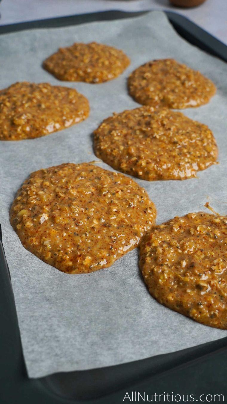 cookie mix on baking sheet