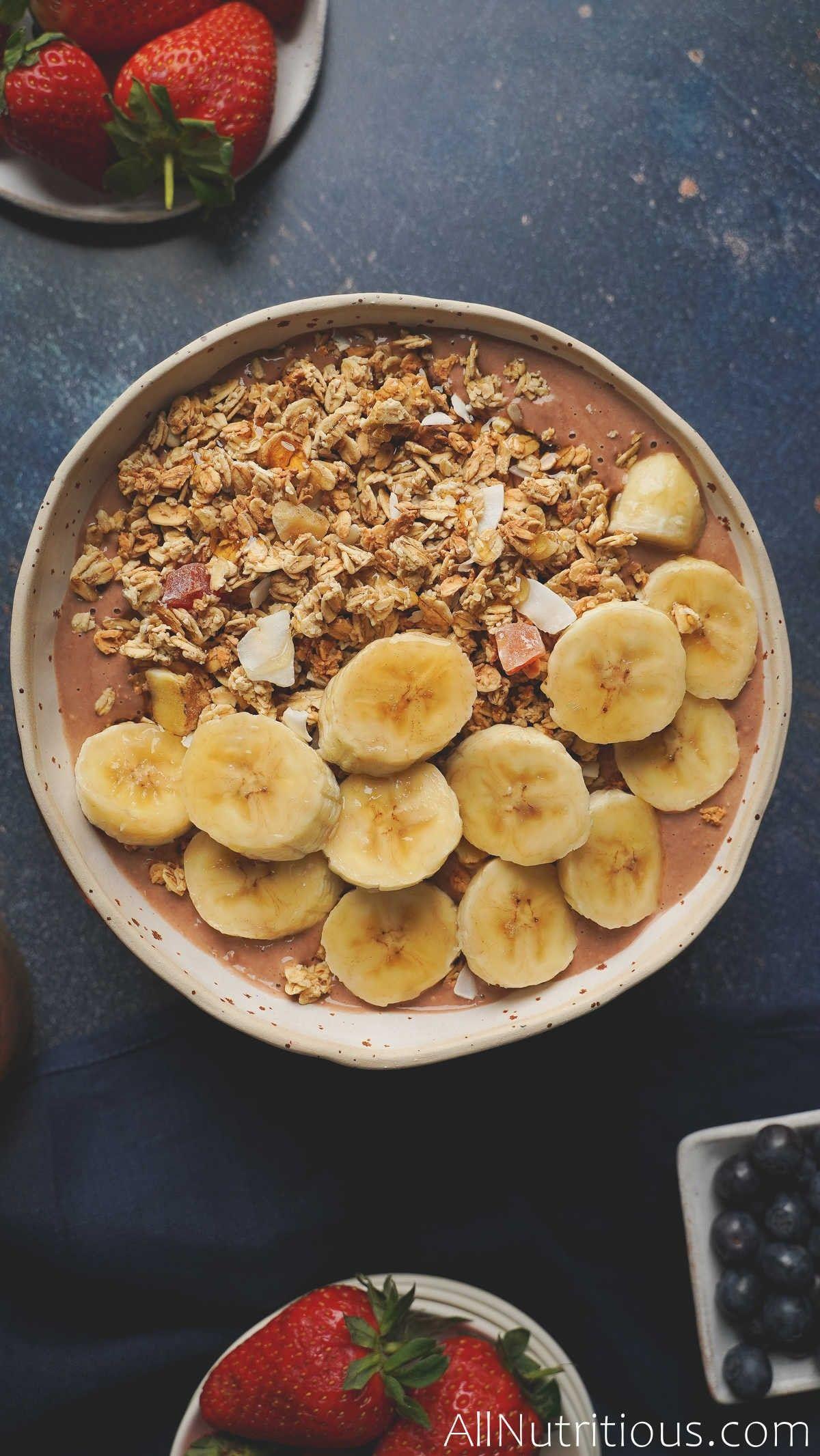 Granola Banana Nut Bowl