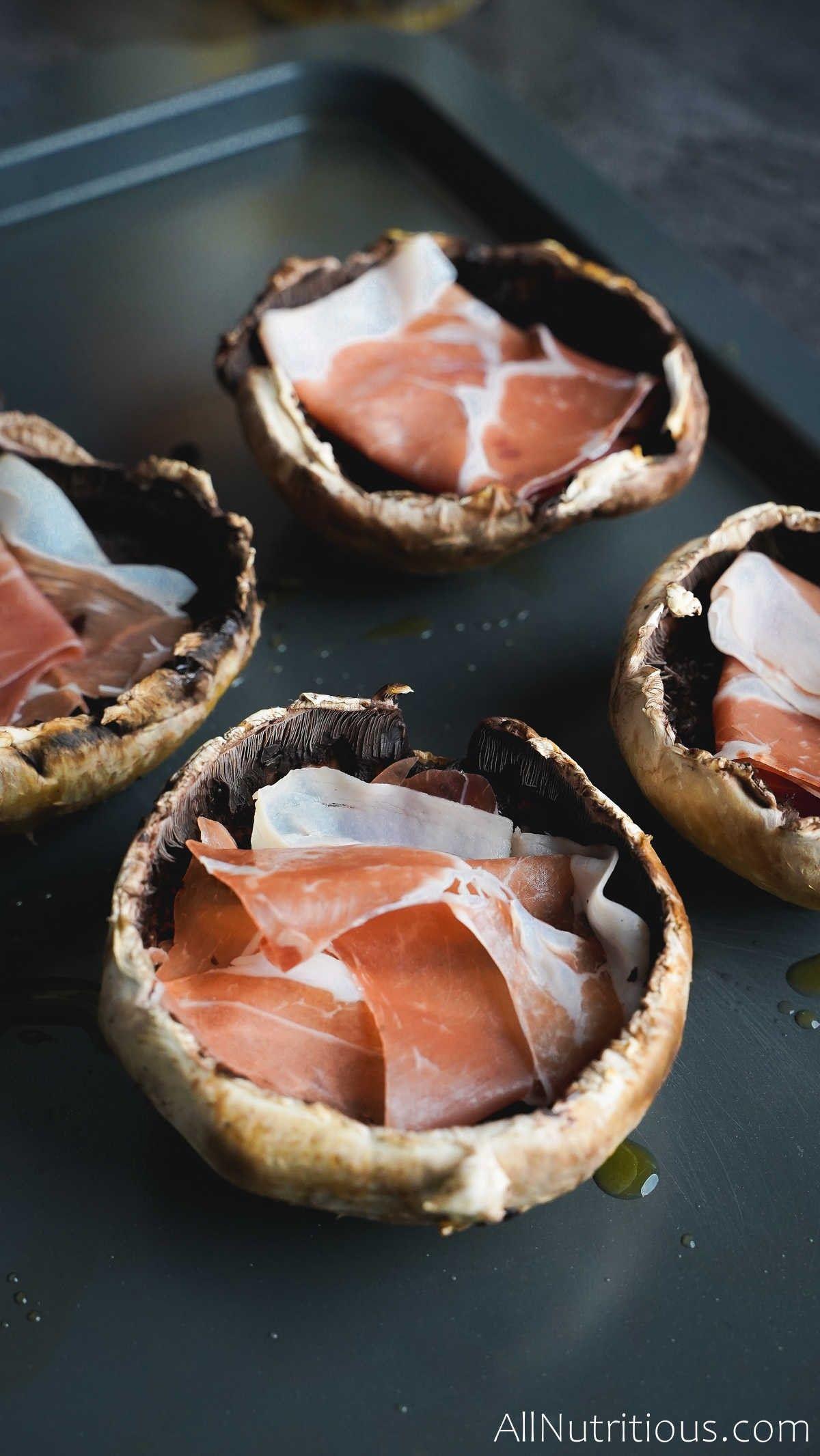 ham in mushrooms