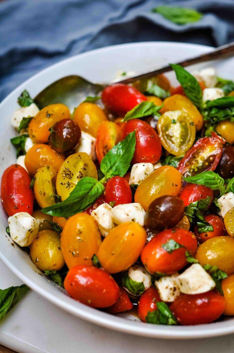 Caprese Salad with Grape Tomatoes