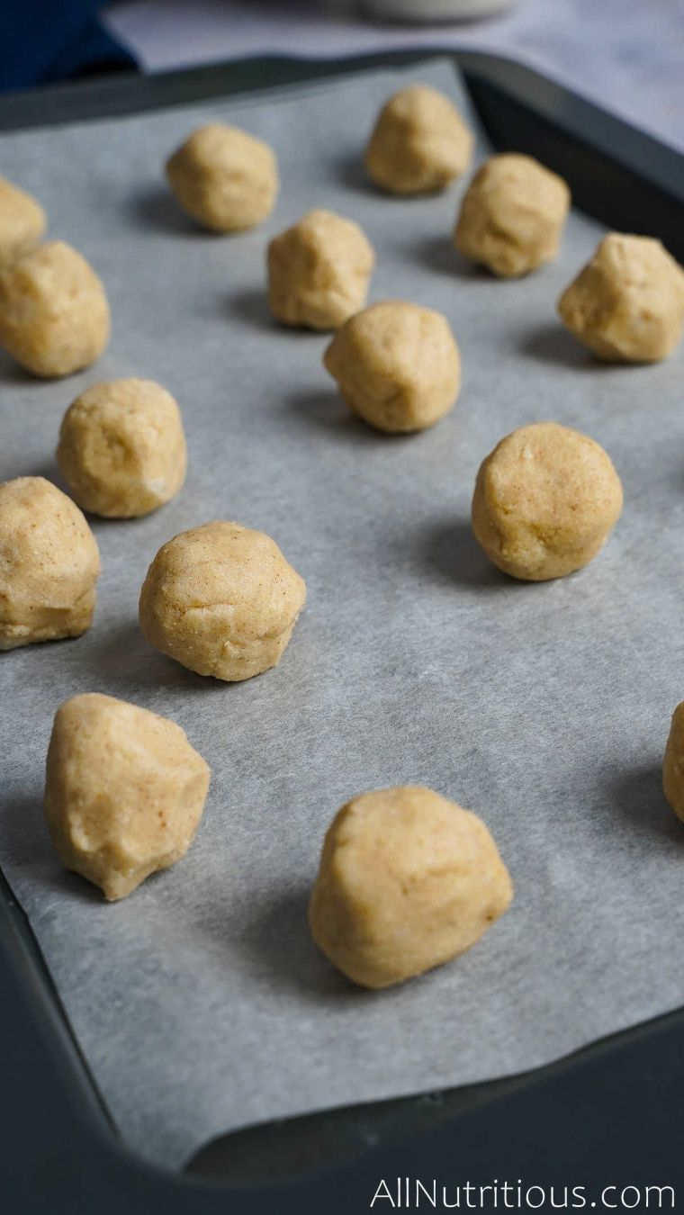 baking sheet of dough balls