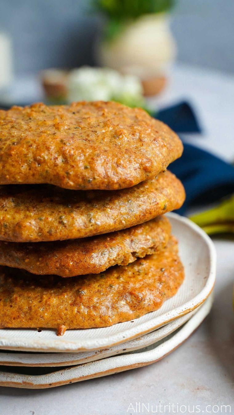 stack of banana cookies