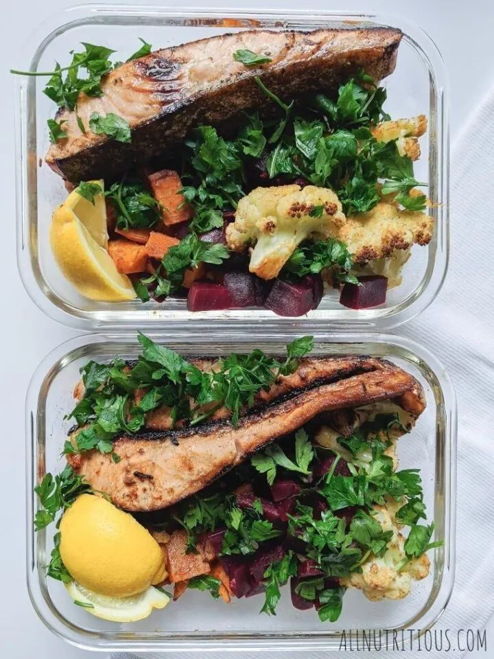 Salmon Meal Prep with Veggies