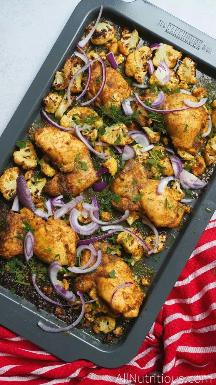 Sheet Pan Chicken & Cauliflower