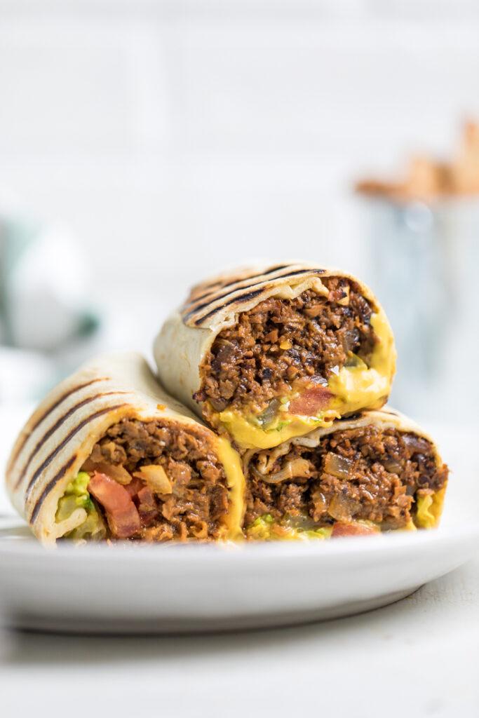 Vegan Cheeseburger Wraps