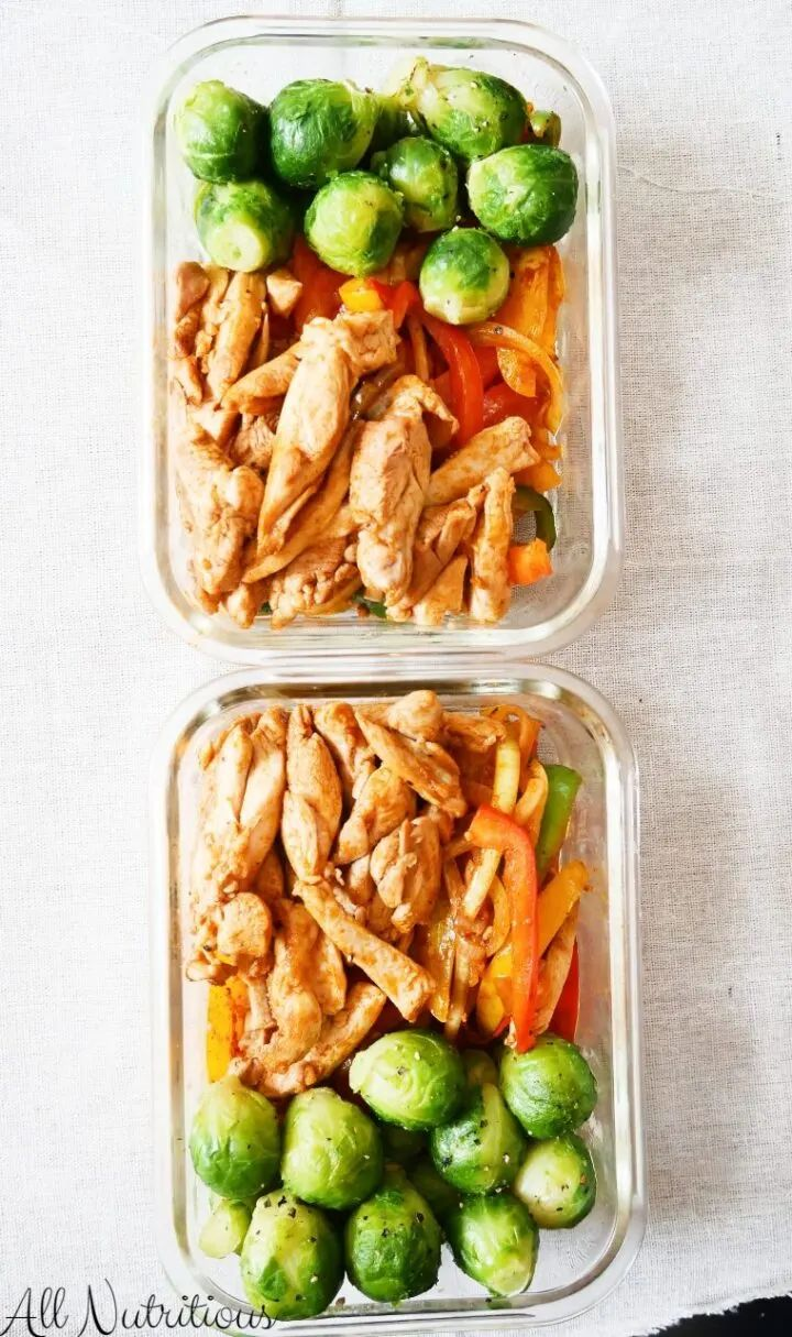 Healthy Chicken Fajita Meal Prep Bowl