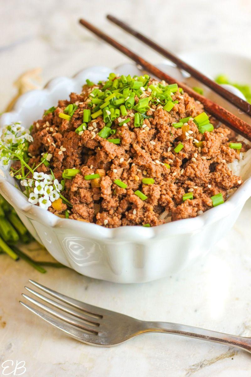 Keto Asian Beef Bowl