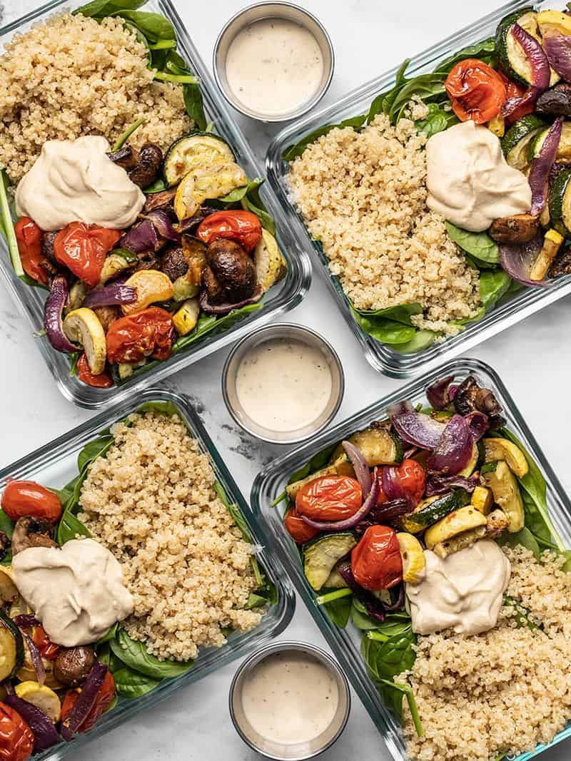 Roasted Vegetable Salad Meal Prep