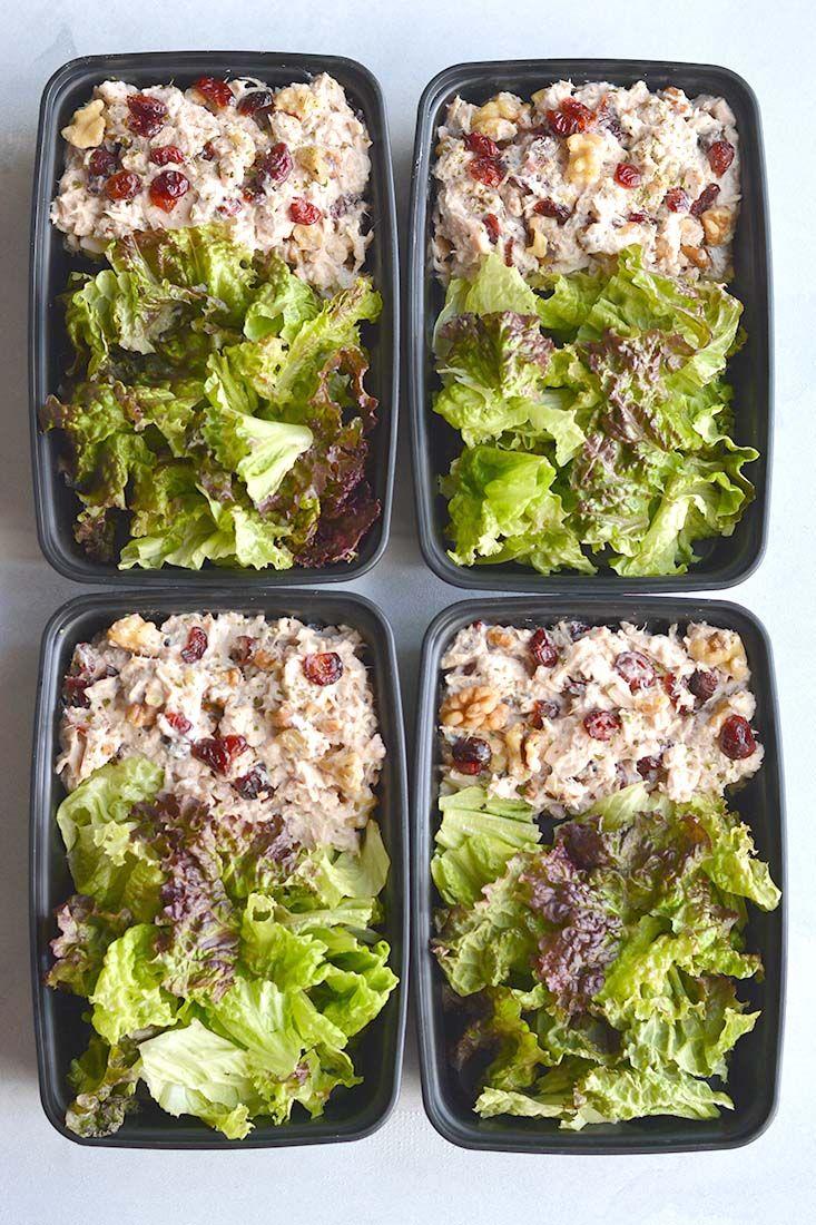Meal Prep Cranberry Walnut Chicken Salad