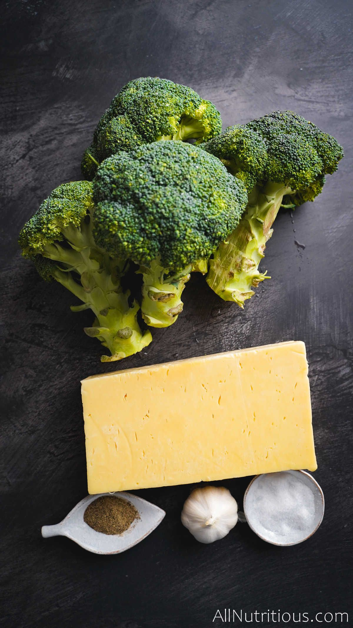 ingredients for cheesy broccoli