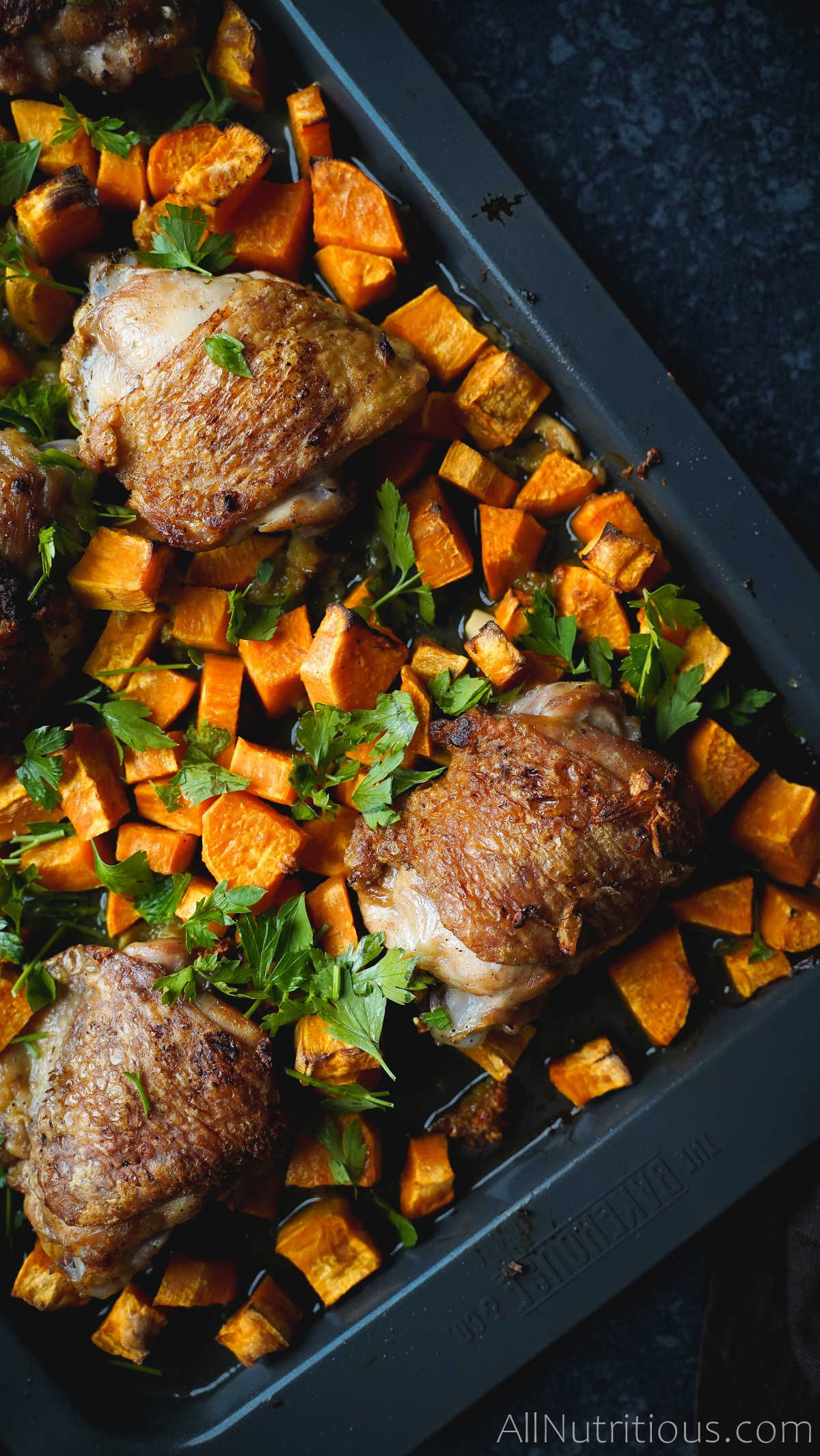 chicken thighs with sweet potatos