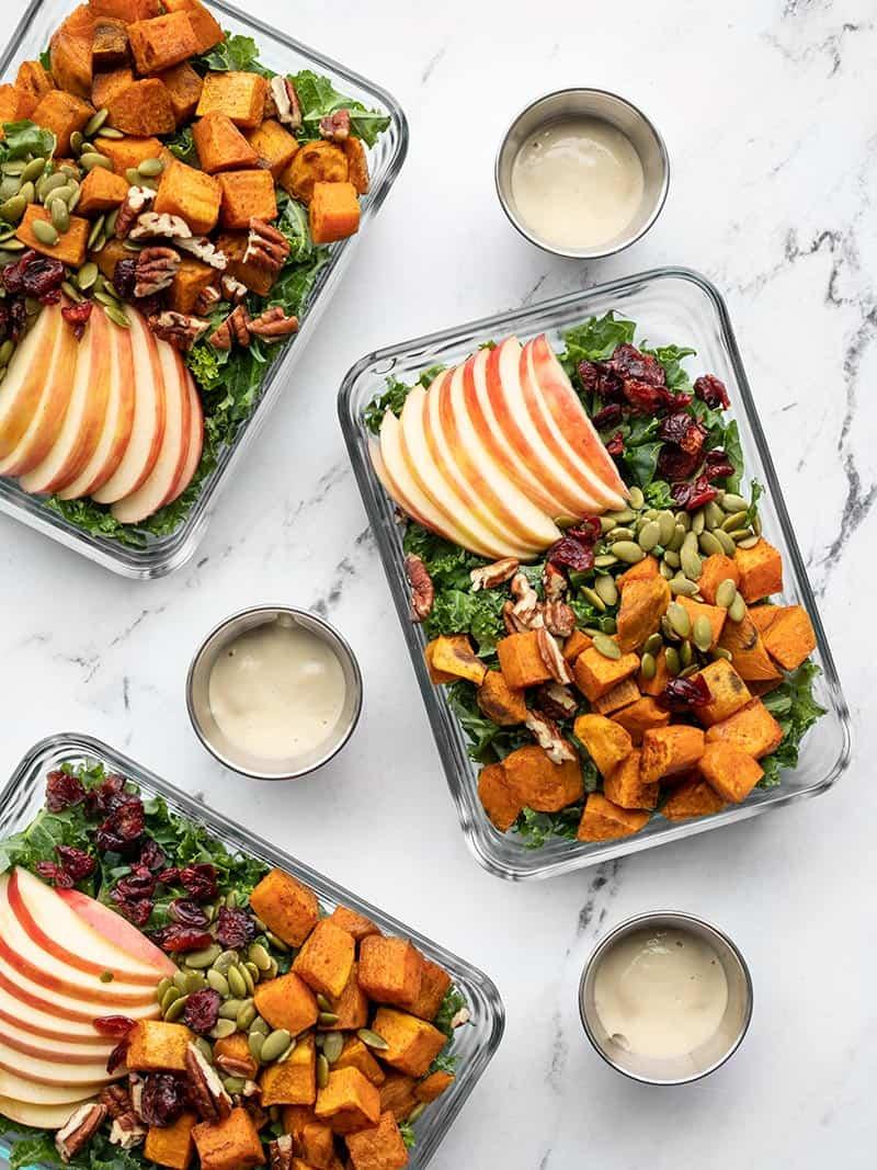 Autumn Kale & Sweet Potato Salad