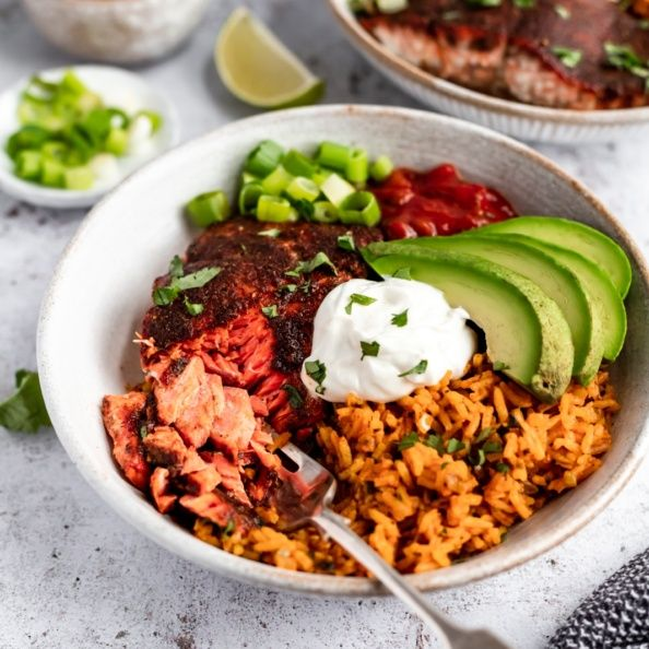 Salmon Taco Bowls