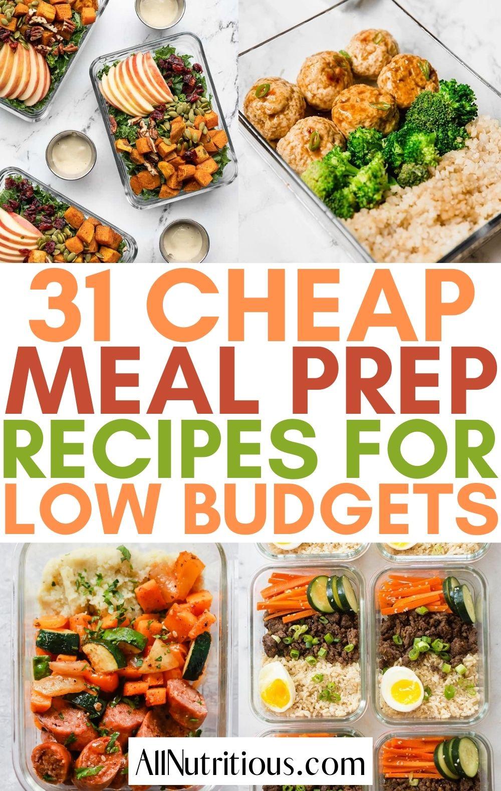 cheap meal preps