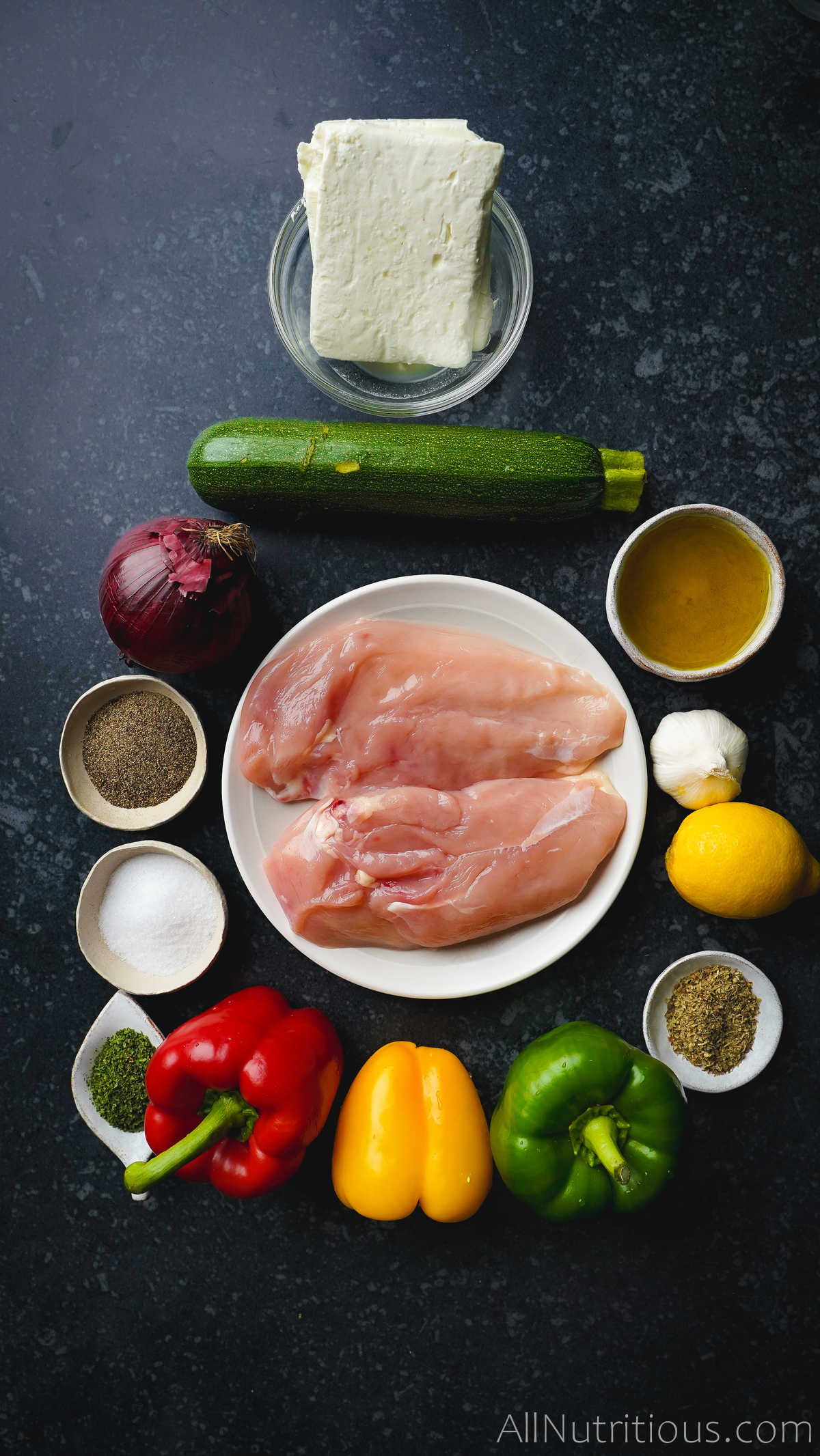 raw chicken and ingredients