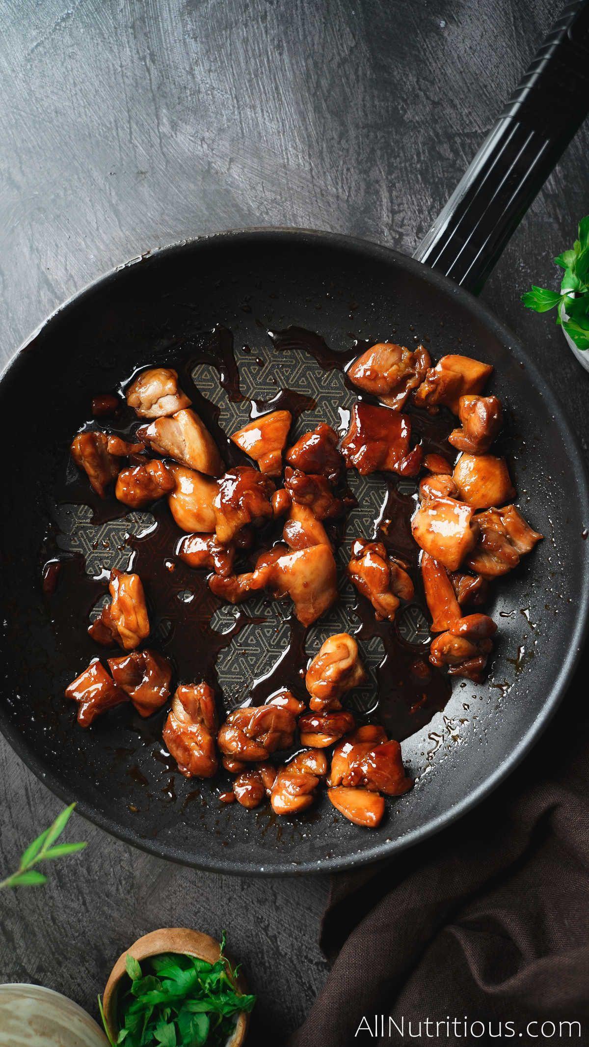 cooked teriyaki chicken