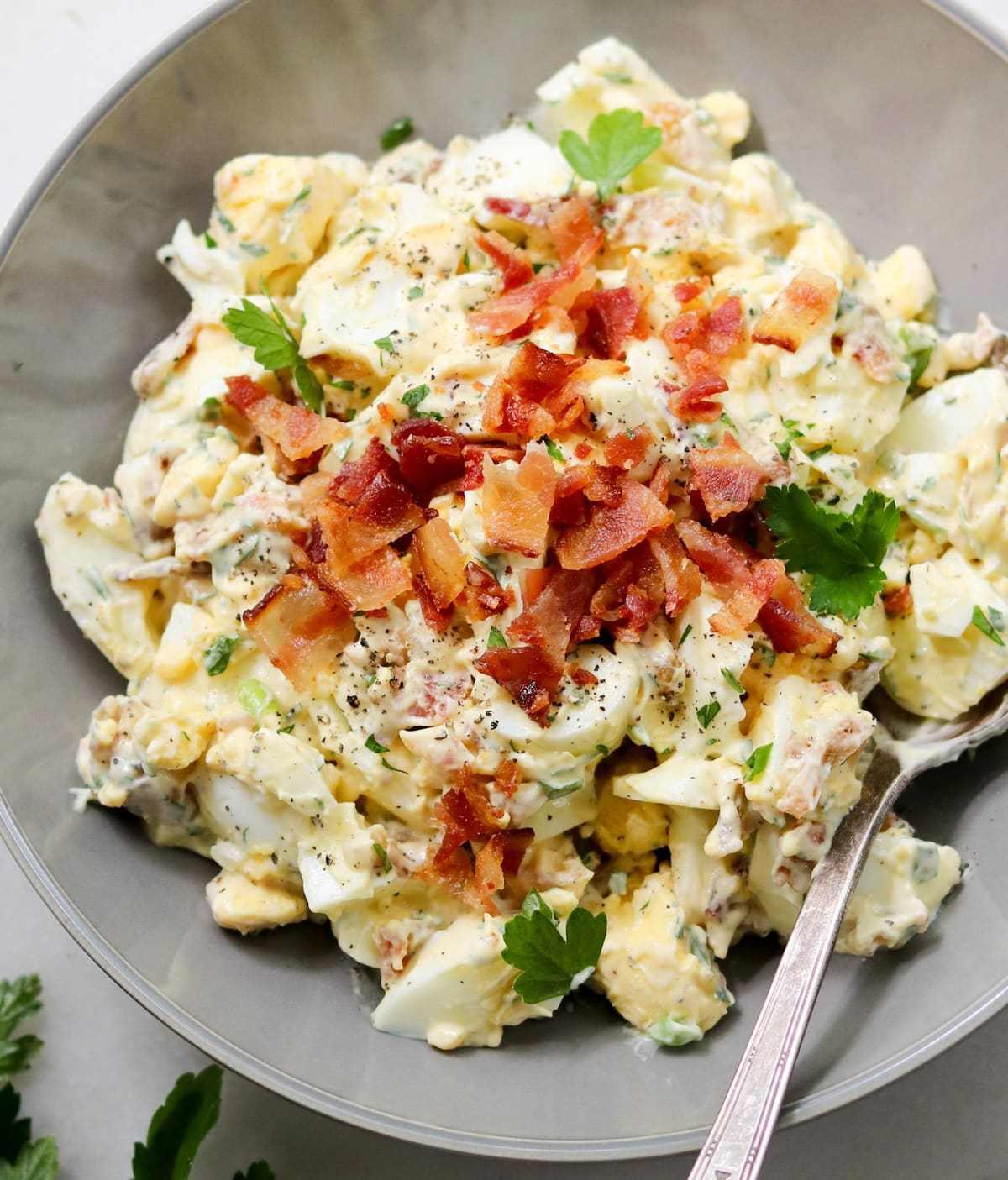 Keto Egg Salad with Bacon