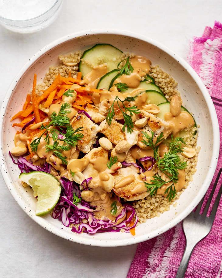 Peanut Chicken Quinoa