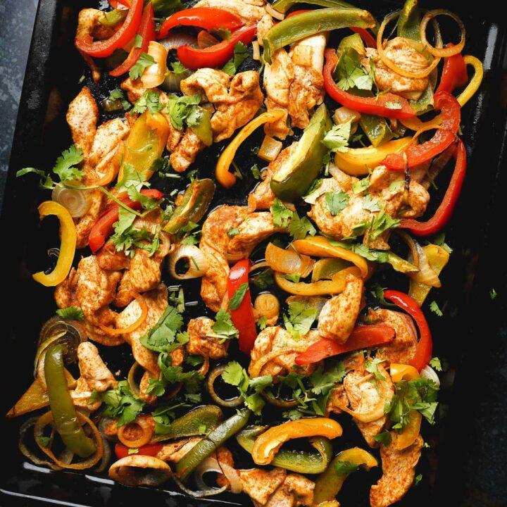 one pan chicken fajitas