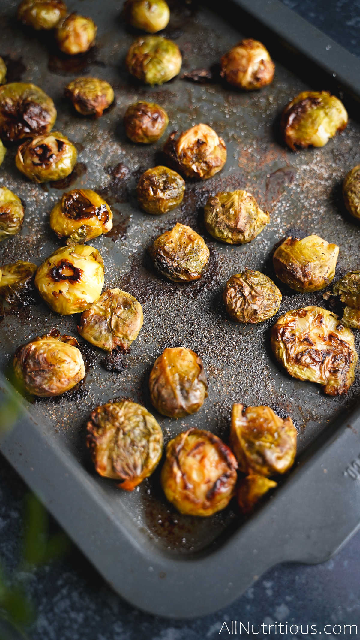 baked sheet pan brussels sprouts