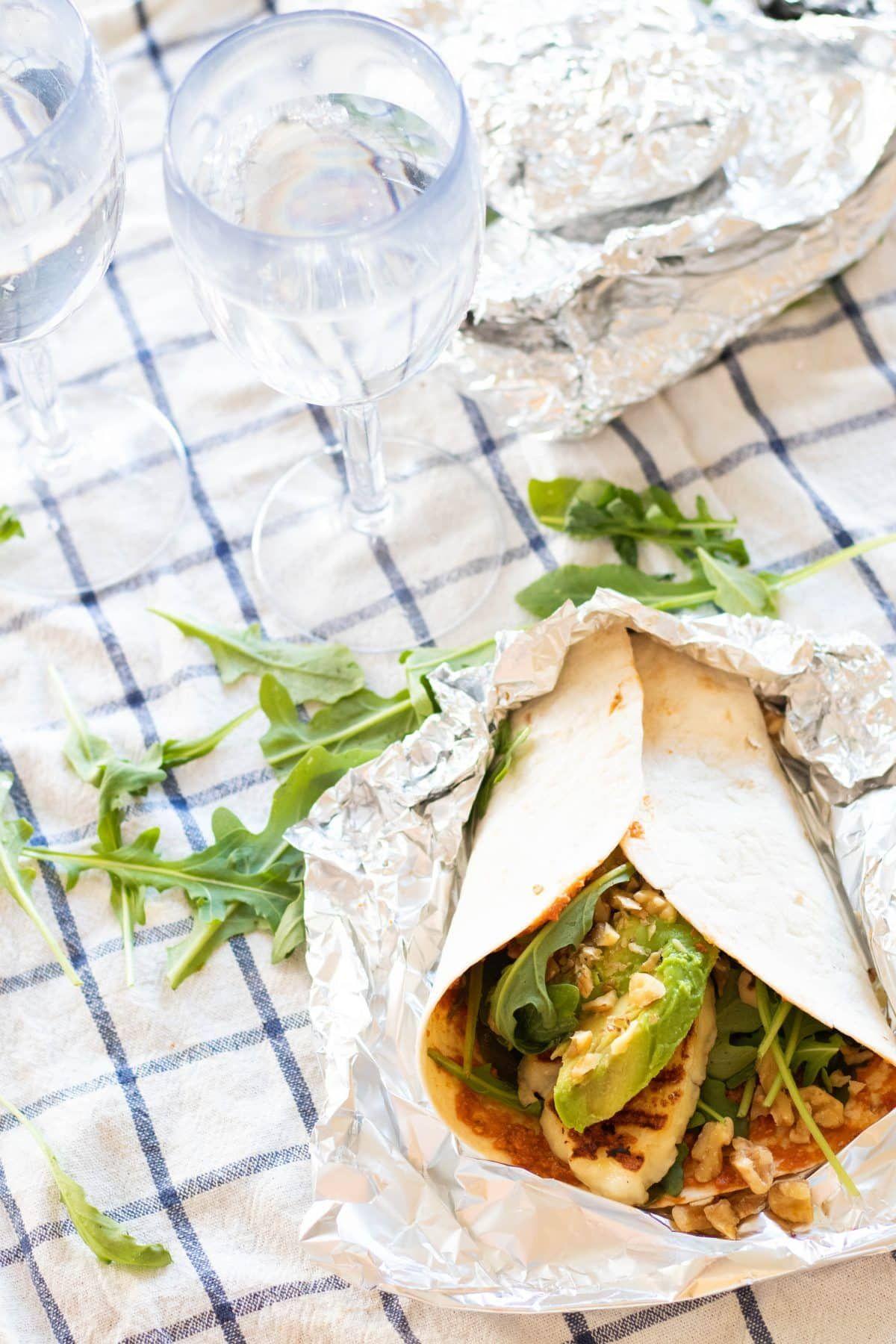 Halloumi Wraps (Vegetarian)