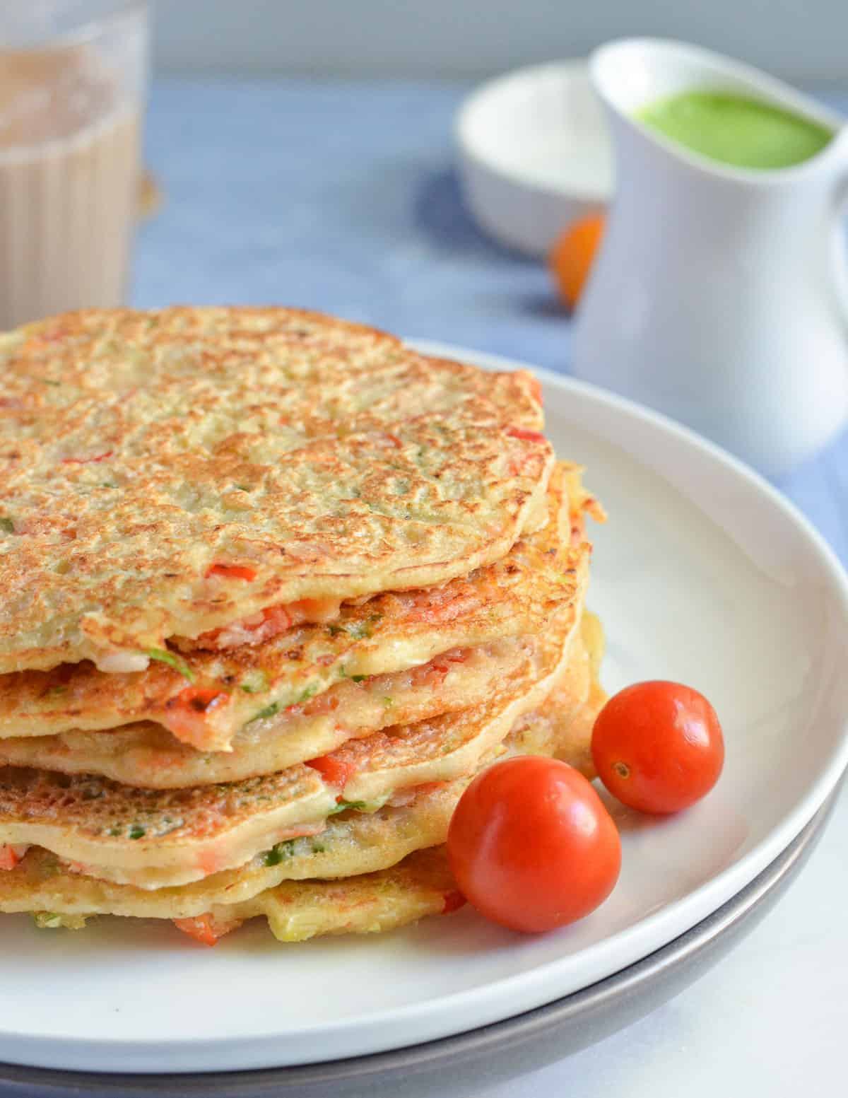 Savoury Vegetable Pancakes with Oats
