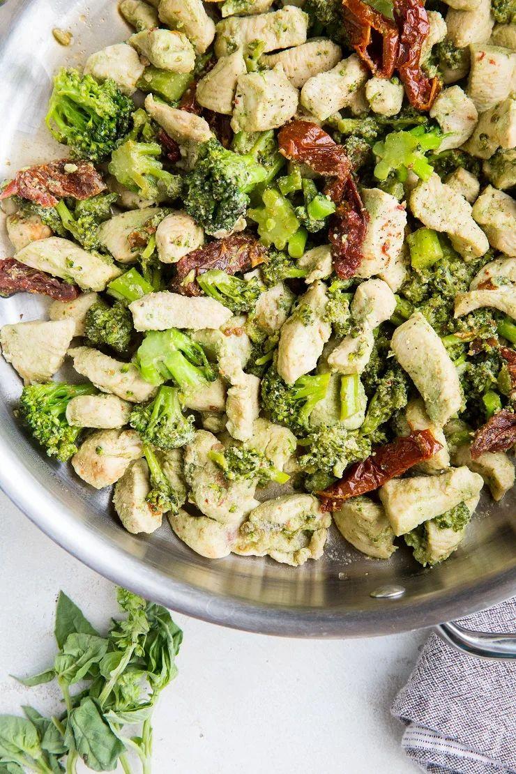 Pesto Chicken and Broccoli