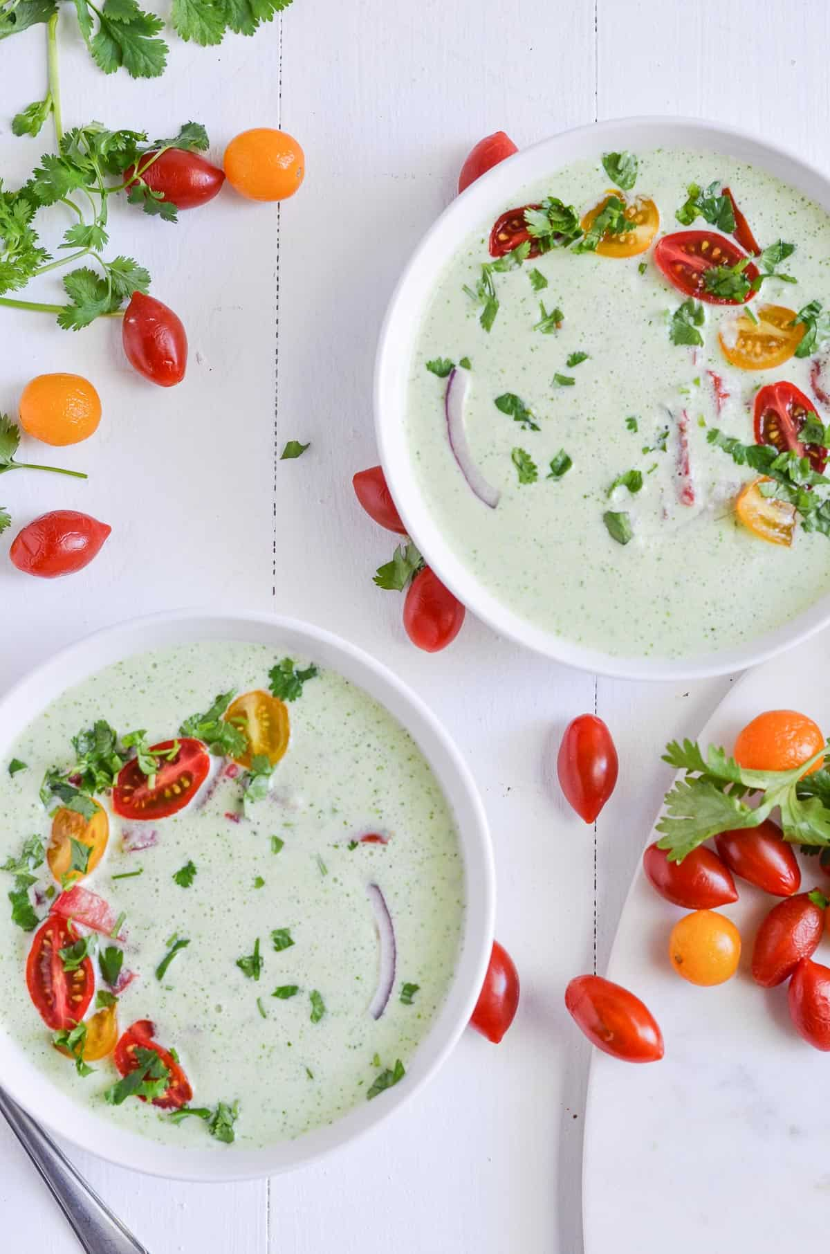 Cold Cucumber Soup with Greek Yoghurt