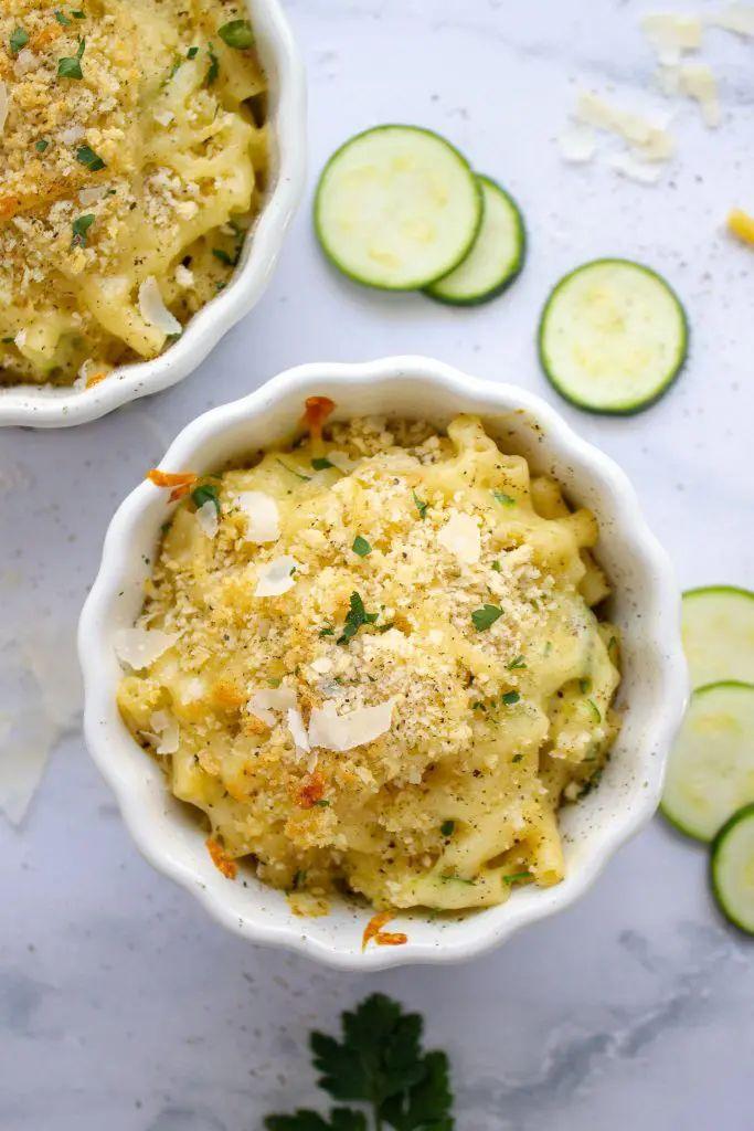 Zucchini Macaroni and Cheese