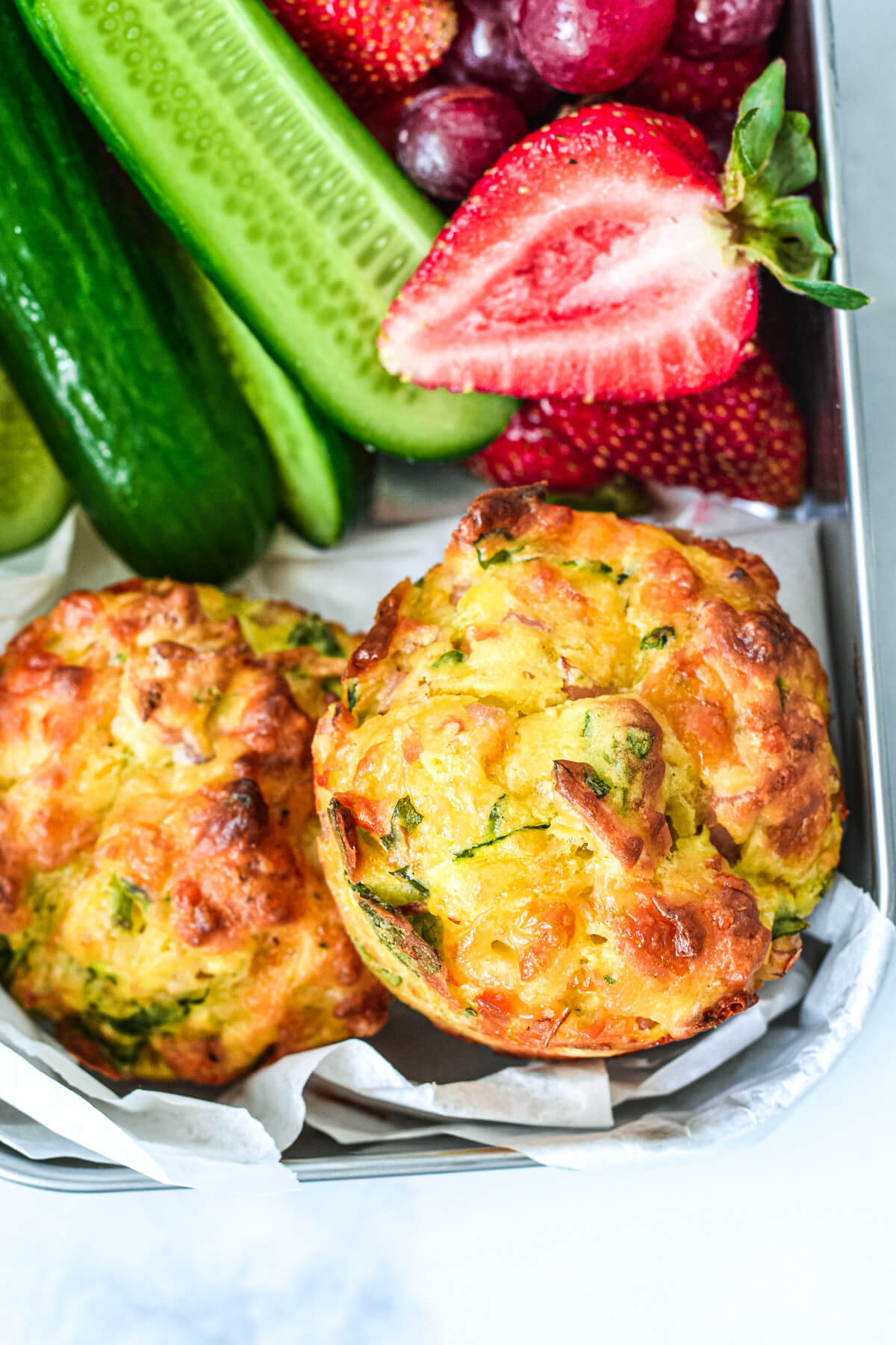 Savoury Bacon and Vegetable Muffin