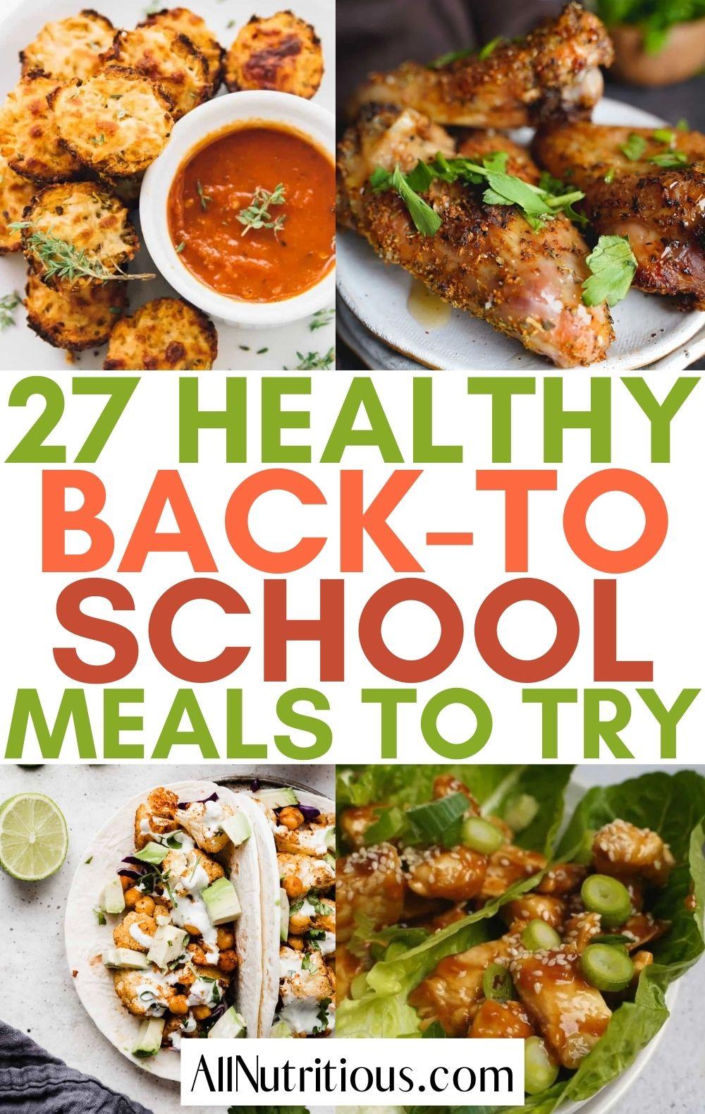 healthy back to school meals