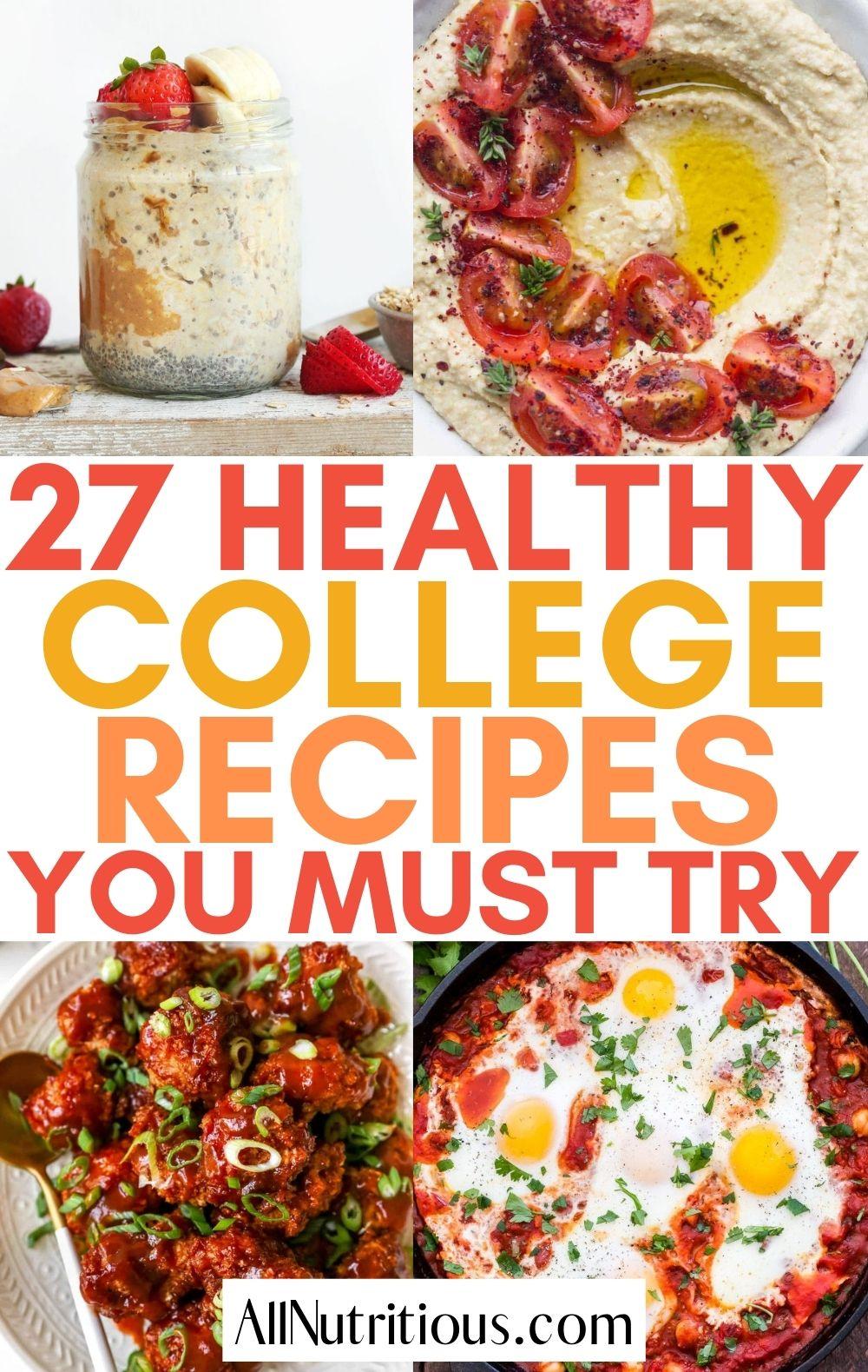 healthy college recipes