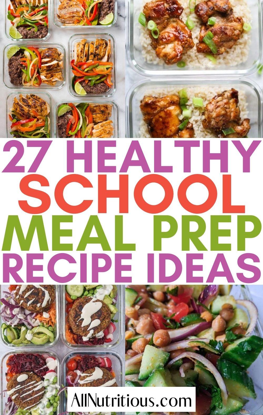 healthy school meal prep