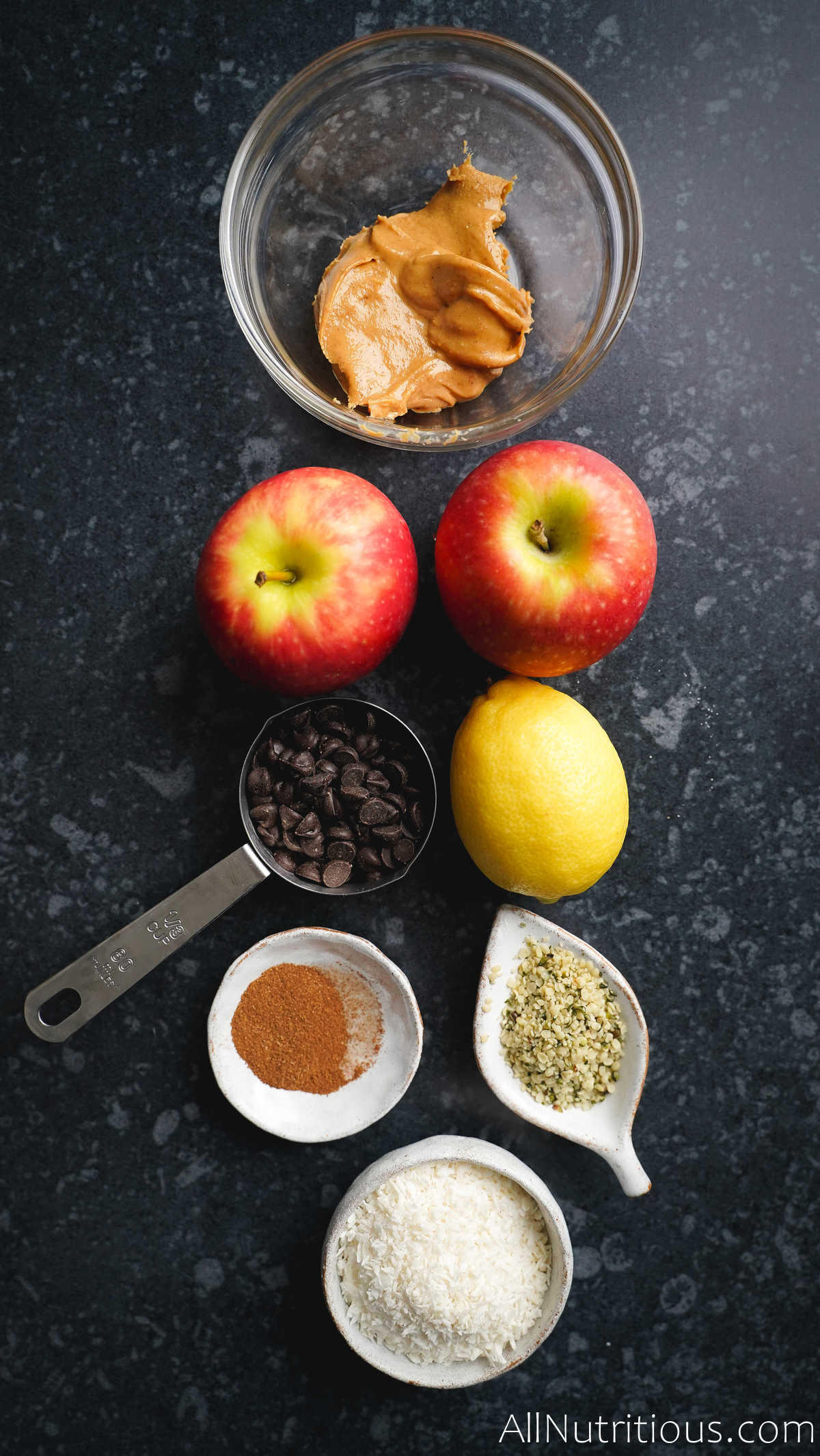 apples and ingredients for nachos