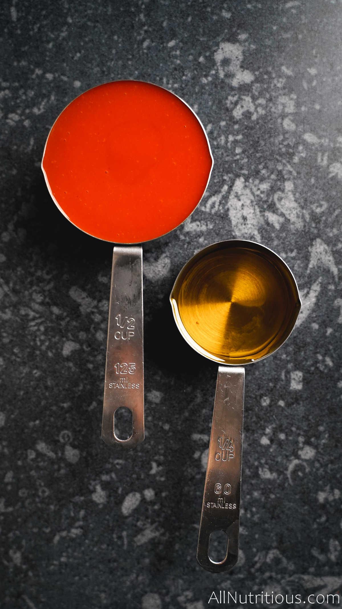 buffalo sauce and oil