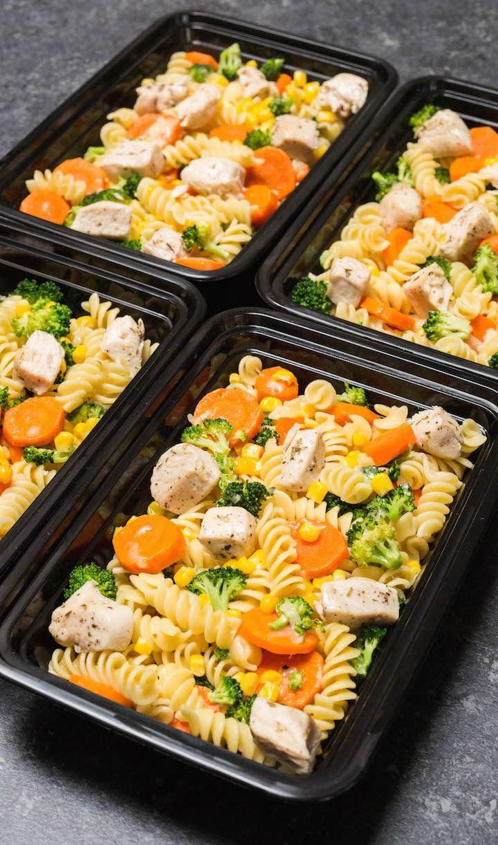Garlic Chicken & Veggie Pasta Meal Prep