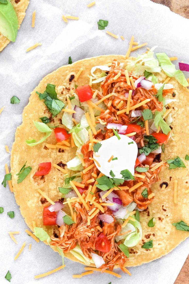 3-Ingredient Crockpot Chicken Tacos