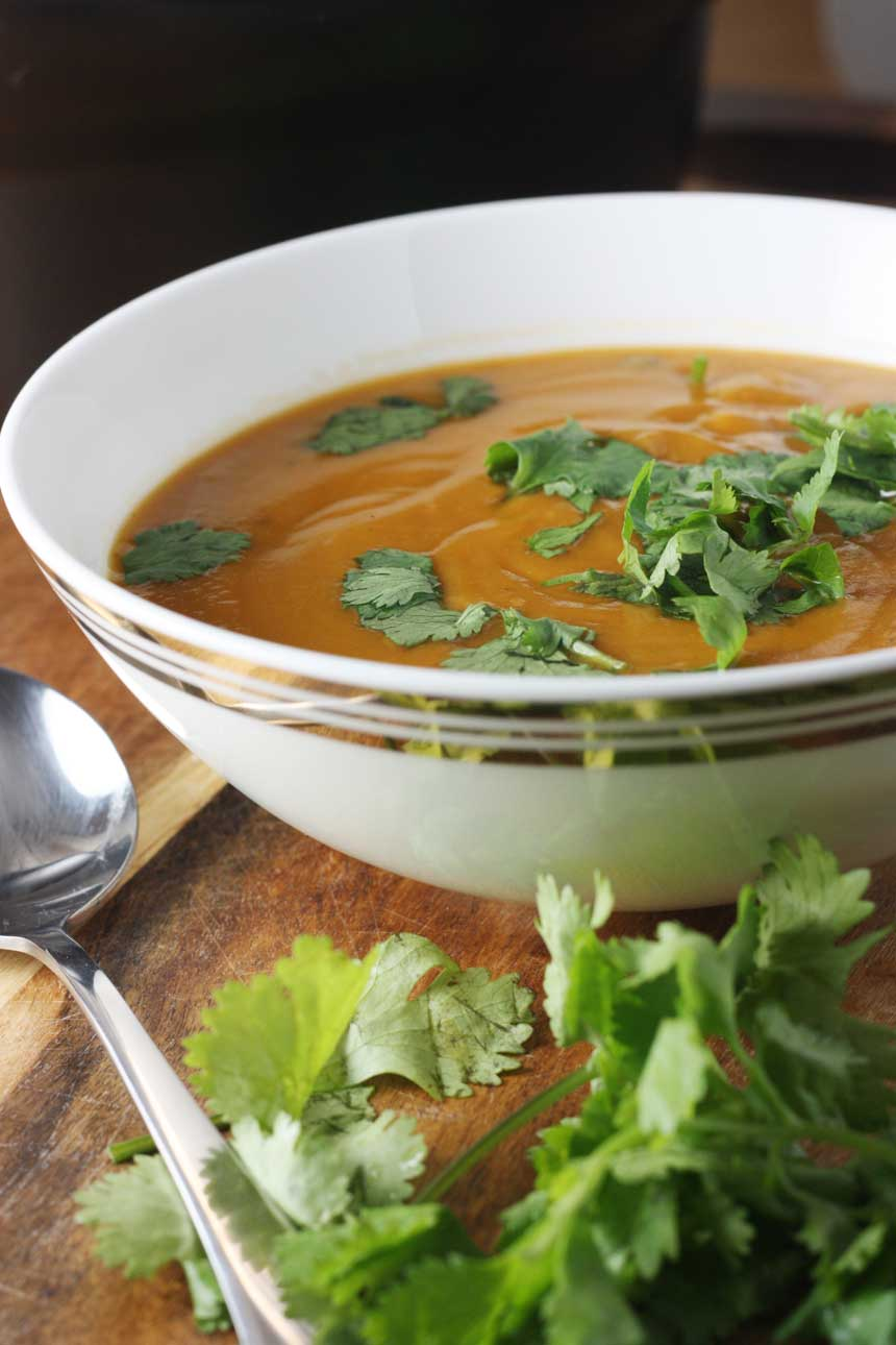 Thai Pumpkin & Red Lentil Soup